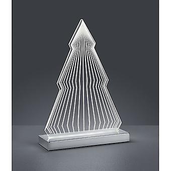 Trio Lighting Fir Modern Chrome Metal Table Lamp
