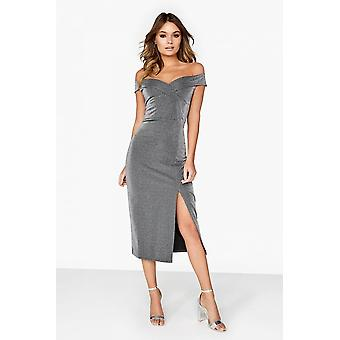 Outrageous Fortune Silver Bardot Dress