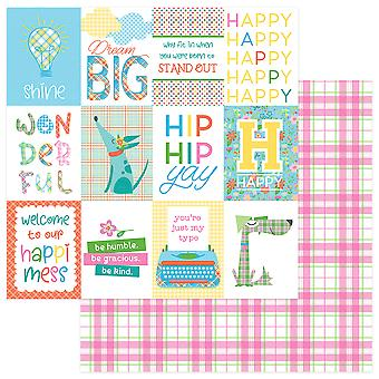 Mad 4 Plaid Happy Double-Sided Cardstock 12