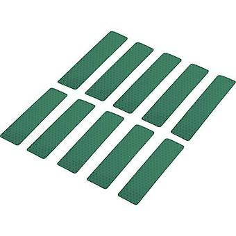 Conrad Components 1282799 Adhesive strips RTS Green (L x W) 100 mm x 25 mm 10 pc(s)