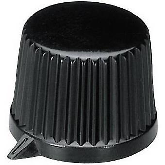 OKW A1613560 Control knob Black (Ø x H) 19.9 mm x 15.5 mm 1 pc(s)
