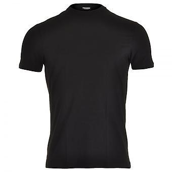 DSQUARED2 Modal Stretch Rundhals T-Shirt, schwarz, XL