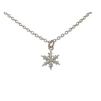 Gemshine - ladies - necklace - pendants - snowflake - 925 Silver - 1 cm