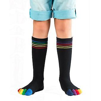 Knitido Rainbow kinderen, jonge geitjes teen sokken gemaakt van katoen gekleurd tenen