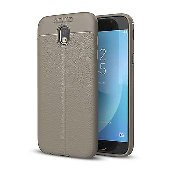 Handy Hülle Schutz Case für Samsung Galaxy J3 2017 Cover Rahmen Etui Grau