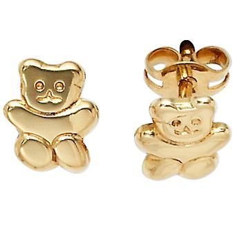 Kinder Ohrstecker TEDDY 333 Gold Gelbgold Kinderohrringe Kinderschmuck