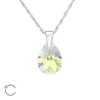 Pear Crystal From Swarovski® - 925 Sterling Silver Necklaces - W38046x