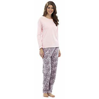 Ladies Foxbury Snowflake Print Winter Long Pyjama pajama Sleepwear