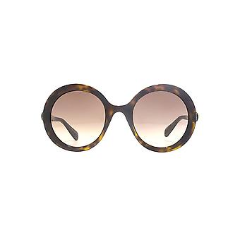Gucci Bold Round Sunglasses In Havana