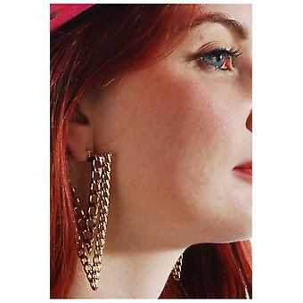 Boucles d'oreilles 80 ' s or bijoux et couronnes
