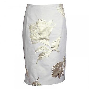 Paola Collection Gold Printed Straight Skirt