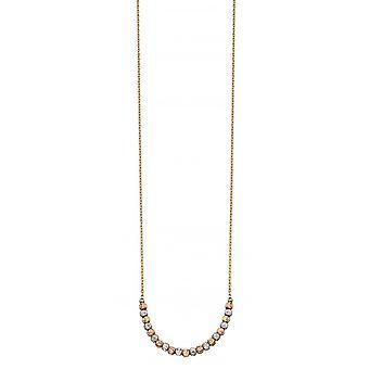 Elements Gold Mixed Diamond Cut Bead Bracelet - Gold