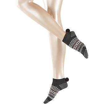 Esprit noruego zapatillas calcetines - mezcla de antracita