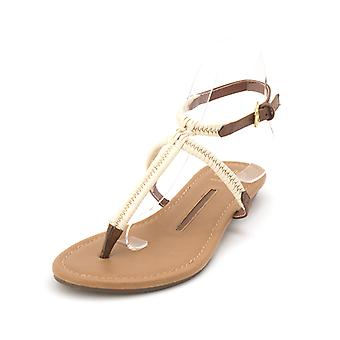 New Directions Womens Isabella Leather Split Toe Casual Slingback Sandals
