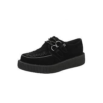 TUK Shoes Black Suede Viva Low Creeper