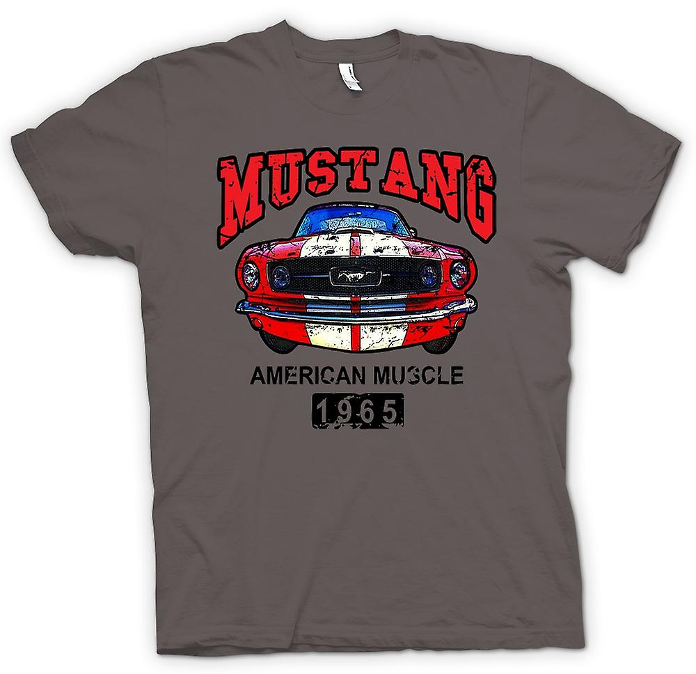 Womens T-shirt-Mustang 65 Muscle - Car - Classic U.S. Car