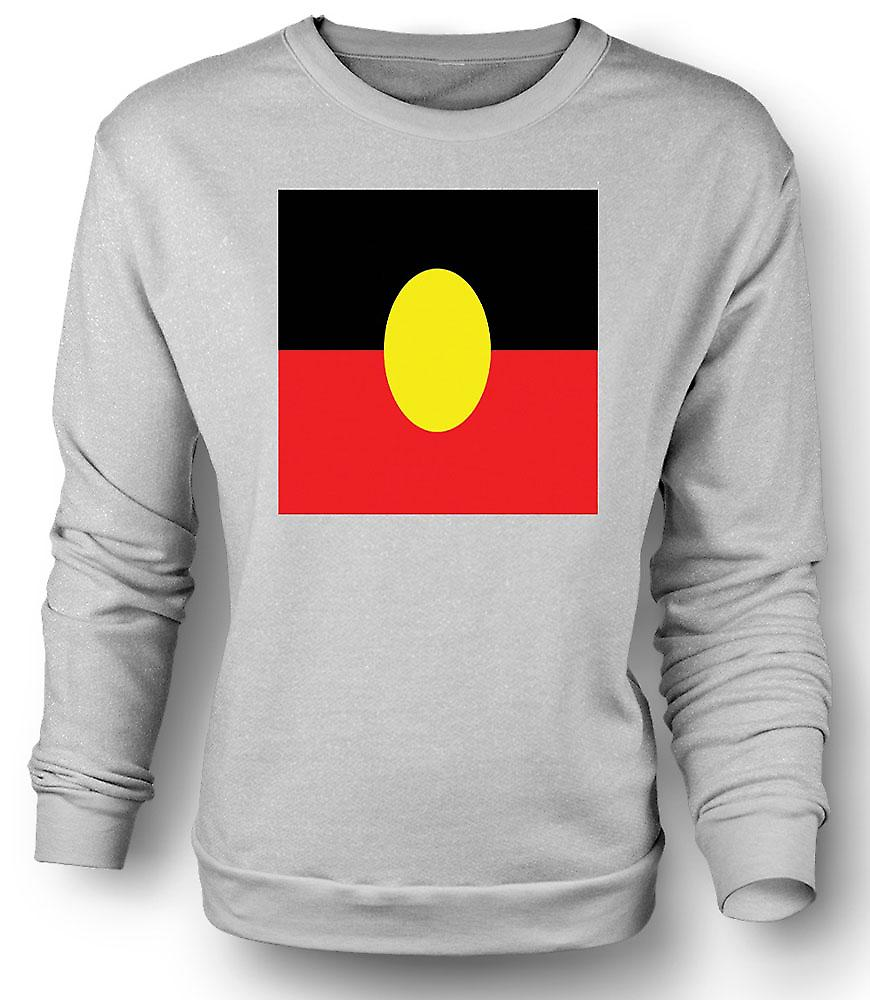 Mens Sweatshirt australiska aboriginernas flagga