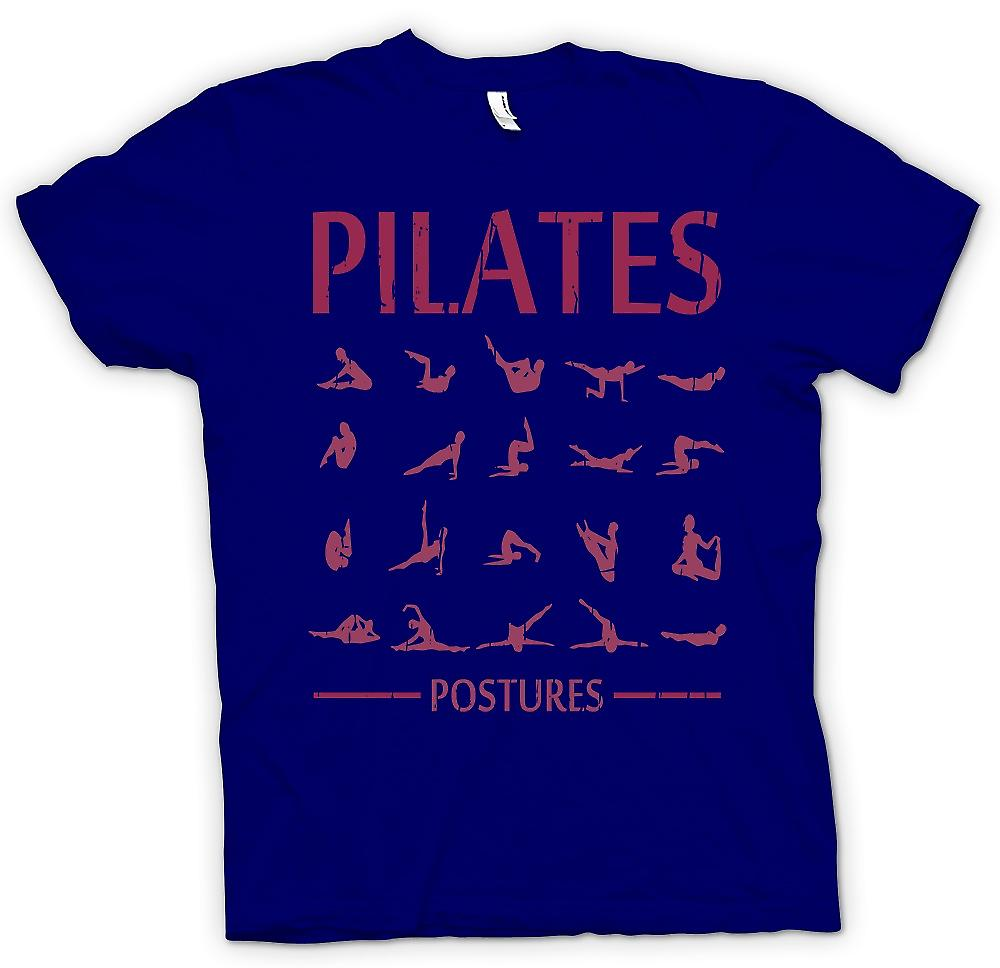 Heren T-shirt - Pilates houdingen - Core Fitness