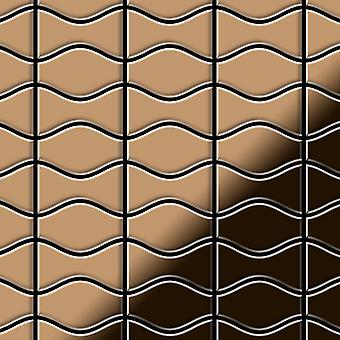 Metal mosaic Titanium ALLOY Kismet-Karma-Ti-AM