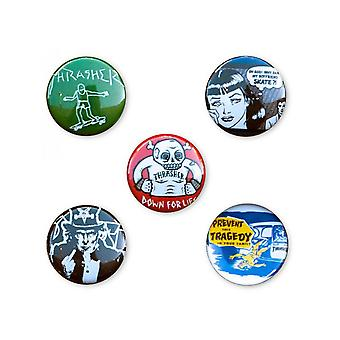 Thrasher Black Usual Suspects - 5 Pack Badge