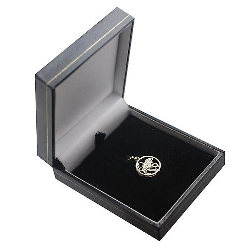 9ct Gold 11mm pierced Zodiac pendant Taurus