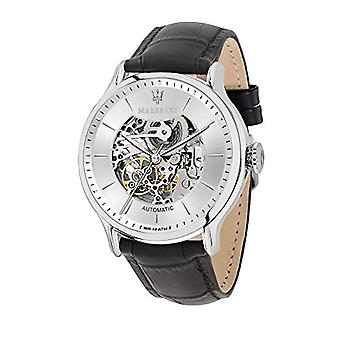 MASERATI Analog automatic men's watch with leather R8821118003