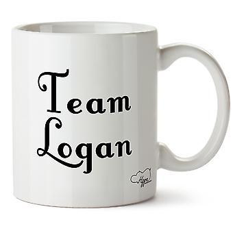 Hippowarehouse команда Логан напечатаны Кубка керамическая кружка 10oz