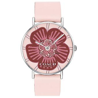 Coach | Womens Perry | Pink Leather Strap | Floral Dial | 14503231 Watch