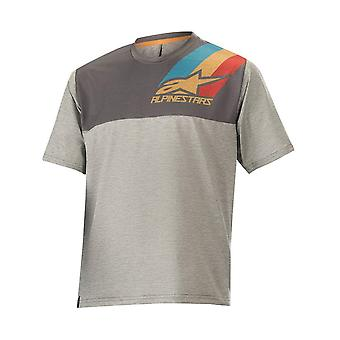 Alpinestars Grey Aqua Ochre Red 2019 Alps 4.0 Kids MTB Short Sleeved Jersey