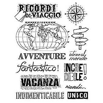 Stamperia Natural Rubber Stamp Travel Souvenirs (WTKCC94)