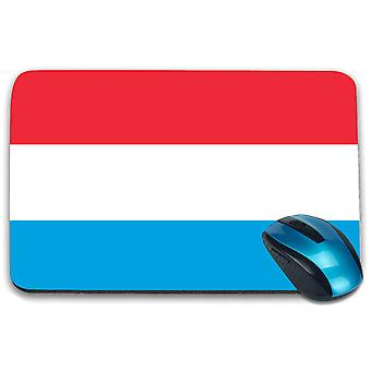 i-Tronixs - Luxembourg Flag Printed Design Non-Slip Rectangular Mouse Mat for Office / Home / Gaming - 0101