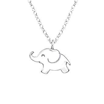 Collier avec pendentif éléphant mignon en argent sterling