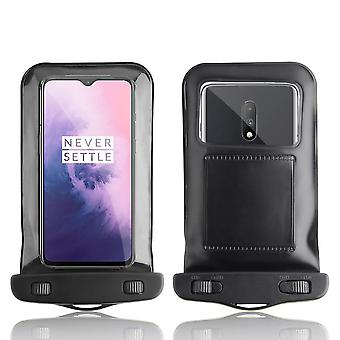 InventCase Waterproof Dustproof Bag Protective Case Cover for OnePlus 7 / 7 Pro 2019 - Black
