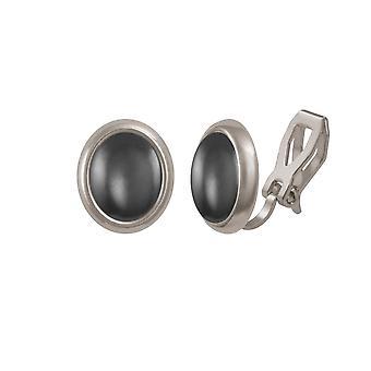 耳飾りの永遠のコレクション メヌエット ヘマタイト シルバー トーン スタッド クリップ