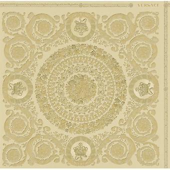 Versace Heritage Gold Papier peint Baroque Ornement Pâte métallique Le vinyle mural