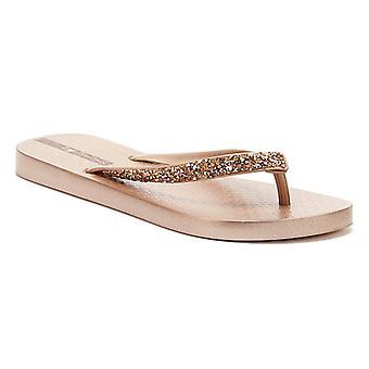 Ipanema Glam Special Crystal Womens Rose Flip Flops