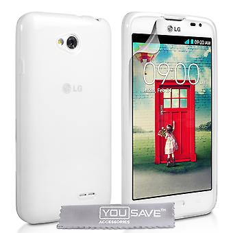 YouSave Accessories LG L70 Silicone Gel Case Clear