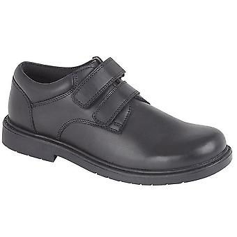 Infant Boys Formal Shoes Leather Twin Touch Fastening Casual School