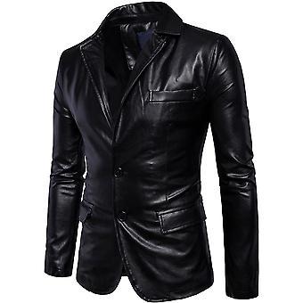 Allthemen Men-apos;s Veste en cuir Slim Fit Lapel Fashion Manteau