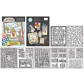 AdornIt ArtPlay Coloring Book-Documented Faith, Creative Faith CB810-27