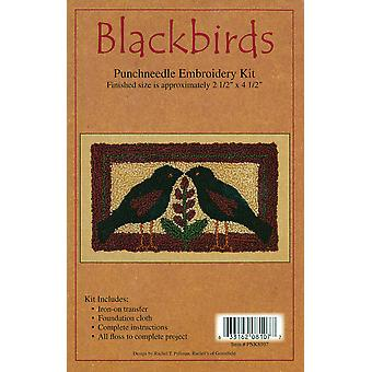 Blackbirds Punch Needle Kit 2 1 2
