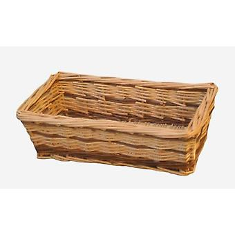 Small Two Tone Rectangular Wicker Tray