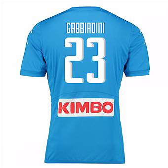 2016-17 Napoli Authentic Home Shirt (Gabbiadini 23)