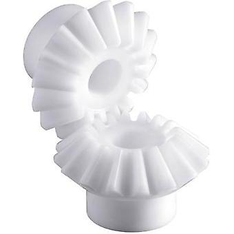 Polyacetal bevel gear wheel Reely Module Type: 1.0 No. of teeth: 16, 16 1 pack