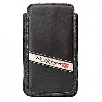 Diesel Hastings New Nylon Leather Case 5,5 x 10cm voor smartphone zwart