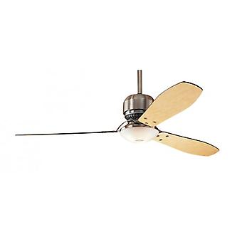 "Ceiling Fan TRIBECA / Industrie 152 cm / 60"" brushed chrome with light"