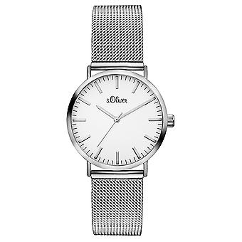 s.Oliver women's watch wristwatch stainless steel SO-3270-MQ