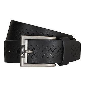 Bugatti belts men's belts leather belt cowhide black 5218