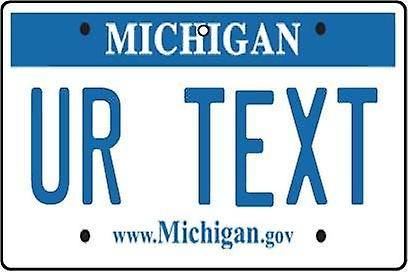 Personalised Michigan Numberplate Car Air Freshener