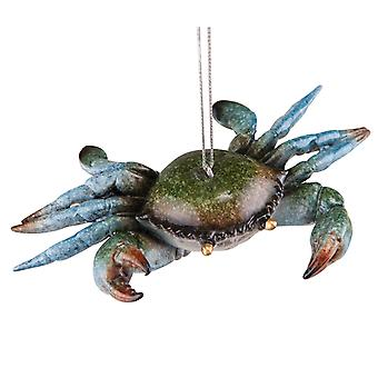 Cozumel Reef Blue Crab Christmas Holiday Ornament 5 Inch